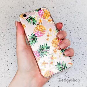 Tropical Pineapples iPhone Case